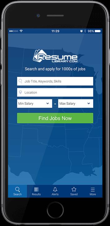 app home screenshot - Resume App