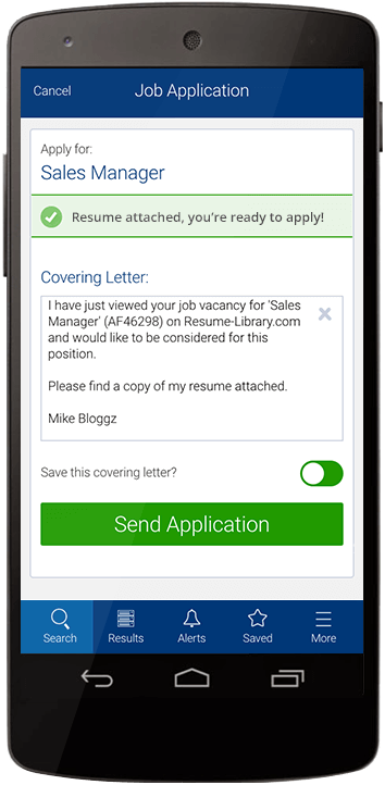 App Job Application Screenshot  Mobile Resume